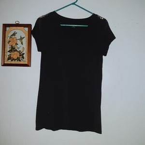 a.n.a Black Embellished  Tshirt